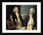 The Money brothers: William (1769-1834), James (1772-1833) and Robert Taylor (1775-1803) by John Francis Rigaud
