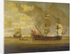 The 'Charles Galley' before a light breeze by Willem Van de Velde the Younger
