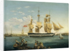 HMS 'Duncan' at Mahon by William Anderson