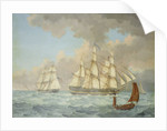 The East Indiaman 'East Indian' by Thomas Binks