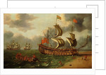 The wreck of the ''Gloucester'' off Yarmouth, 6 May 1682 by Johan Danckerts
