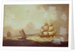 The East Indiaman 'Hindustan' in a breeze by Thomas Luny