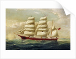 The barque J H Marsters in full sail by William Horde Yorke