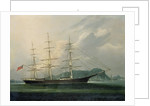 The ship 'Moravian' by Chinese School