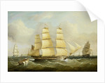 The ship 'Morley' and other vessels by William Adolphus Knell