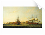 The East Indiaman 'Northumberland' off Saint Helena by Thomas Luny