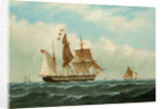 The barque 'Peerless' by Richard Henry Nibbs