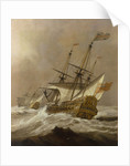 HMS 'Resolution' in a gale by Willem Van de Velde the Younger