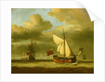 The yacht 'Royal Escape' close-hauled in a breeze by Willem Van de Velde the Younger