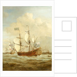 HMS 'Saint Andrew' at Sea in a moderate breeze by Willem Van de Velde the Younger