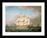 The 'Victory' leaving the Channel in 1793 by Monamy Swaine