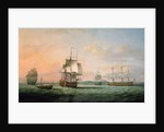The East Indiaman 'York' and other vessels by Thomas Luny
