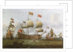 HMS 'Britannia' in two positions by Isaac Sailmaker