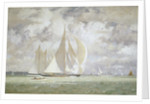 HMY 'Britannia' racing the yacht 'Westward' in the Solent, 1935 by Norman Wilkinson