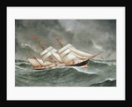 The barque 'Camphill' in a rough sea by Joseph Fannen