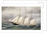 The schooner 'Robert Ingle Carter' by Solon Francis Montecello Badger