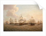 Rodney's fleet taking in prizes after the Moonlight Battle, 16 January 1780 by Dominic Serres the Elder
