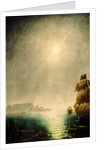Moonlight view over Table Bay showing Halley's comet by Charles Piazzi Smyth