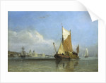 Hay barge off Greenwich by Edward William Cooke