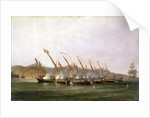 Captain Robert Maunsell capturing French gunboats off Java, July 1811 by William John Huggins