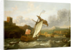 An English yacht sailing into Plymouth by Ludolf Bakhuizen