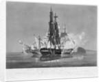 The Hebrus and L' Etoile off Cape La Hogue, March 27th 1814 by Nicholas Pocock