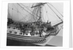 Rigging detail of a full hull model of the 'Yarmouth' (1745) by unknown