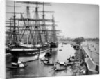 Sailing vessels moored on the River Hooghly at Calcutta by unknown