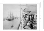 Deck scene, Port Said, onboard the RMS 'Orizaba' (1886) by unknown