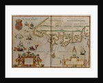 Chart showing the Bristol and English Channel by Lucas Jansz Waghenaer