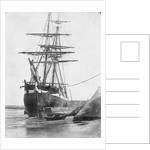 Brig and barque at low tide, Swansea by unknown