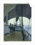 Deck scene on the barque 'Suzanne' by John Everett