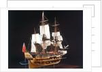 HM bark 'Endeavour', starboard stern quarter, revealing hull inside by Robert A. Lightley