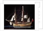 'Endeavour', port broadside by Robert A. Lightley