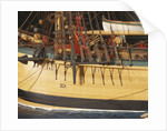 'Endeavour', detail, port foremast shrouds and anchors by Robert A. Lightley
