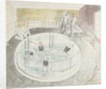 The Submarine Series: Testing Davis diving apparatus by Eric Ravilious