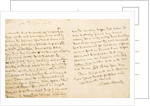 Letter from Horatio Nelson to Admiral Kingsmill, dated 1804 by Horatio Nelson