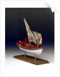 Full hull model, 6-oared ship's launch, starboard by Robert A. Lightley
