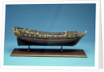 Navy Board skeleton model, starboard broadside by unknown