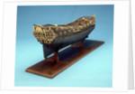 Navy Board skeleton model, starboard stern quarter by unknown