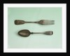 Fork and spoon relics of Sir John Franklin's last expedition by George Adams