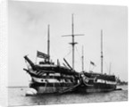 HMS 'Implacable' (1805) and HMS 'Foudroyant' at anchor, Portsmouth by unknown