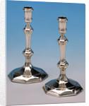 Queen Anne candlesticks by John Bache
