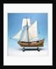 Skeleton model, royal yacht, port broadside by unknown