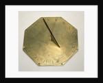 Horizontal pedestal dial by Elias Allen