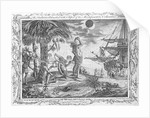 Christopher Columbus's voyage. The Indians astonished at the Eclipse of the Moon foretold by Columbus. Engraved for Drake's Voyages. by unknown