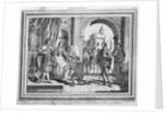 Columbus presenting an account of his voyage to the King and Queen of Spain. Engraved for Drake's Voyages. by Samuel Wale
