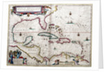 Gulf of Mexico and the Caribbean, from Blaeu's 'Atlas of the Americas' by John Blaeu