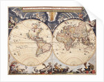 World map from the Blaeu Atlas, 17th century by John Blaeu