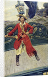 Pirate captain on deck by Howard Pyle